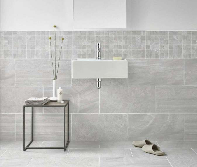 Home Inverno Grey Marble Effect Mosaic 1