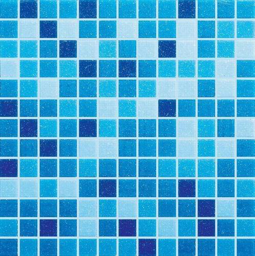 Pentolex Blue Glass Mosaic Tiles, For Swimming Pool Wall, 15-20 mm