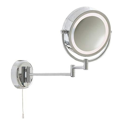 SR Luxury Metal Shaving Mirror with Light, Packaging Type Box