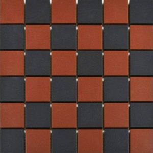Victoria Red & Black Chequer Mosaic