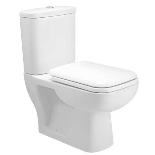 White Open Front Western Toilet Seat, for Bathroom Fitting